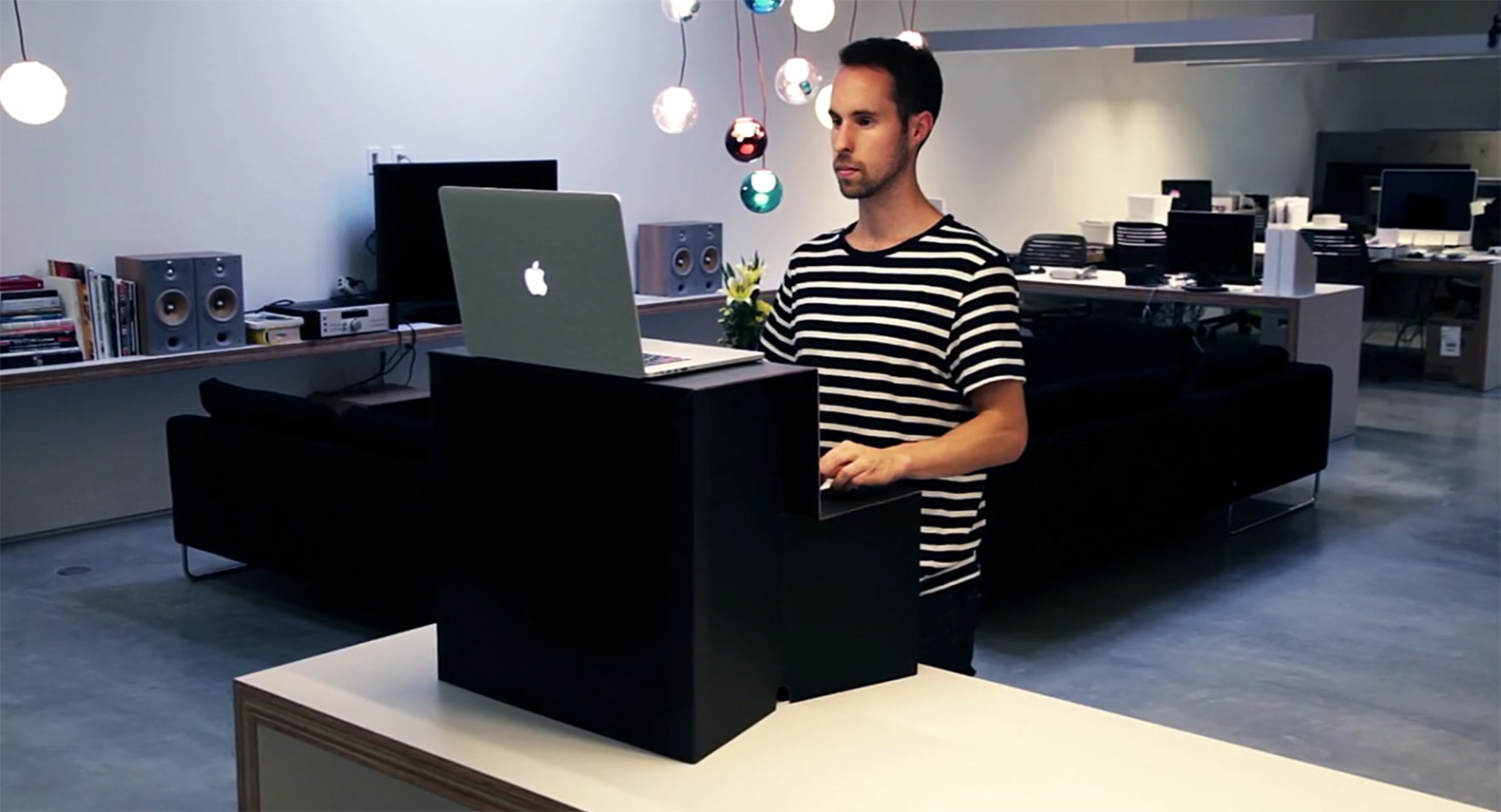 Oristand is a portable folding standing desk that costs