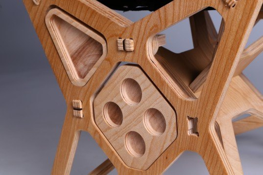 Flat Pack Electron Chair Is Cnc Milled From Beech Plywood