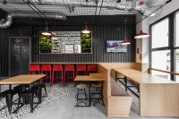 Mode:lina designs shipping container-like burger cafe in ...