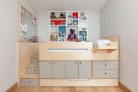 Casa Kids' clever custom sleeping loft is a storage bed on