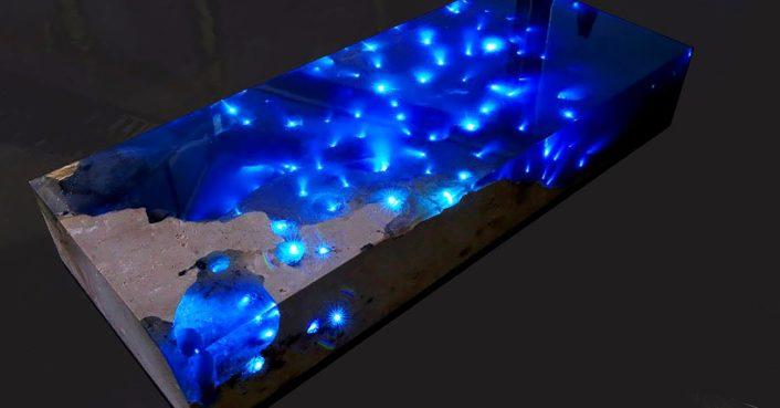 Alexandre Chapelin La Table Starry Sea Led Blue