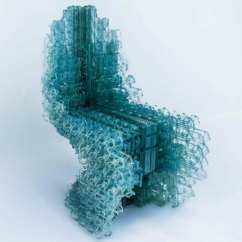 Blue Green Chair Adirondack Rocking Chairs Uk This Spellbinding Icy Throne Was 3d-printed By Robots | Inhabitat - Design ...