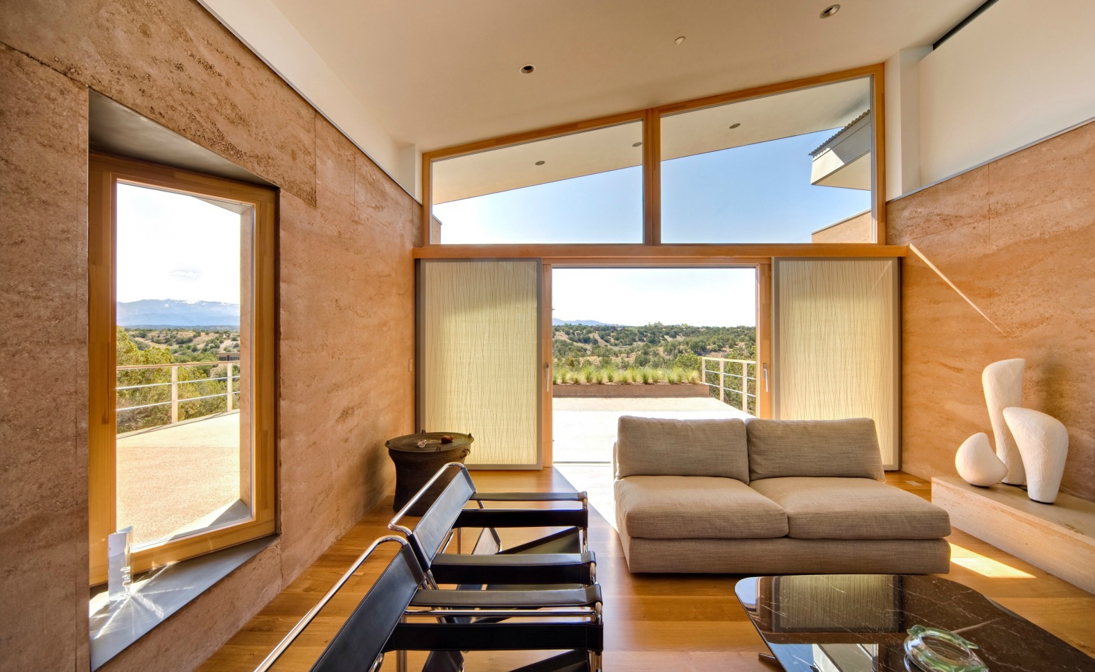 Striking rammed earth home blends into the hills of Santa Fe  Inhabitat  Green Design
