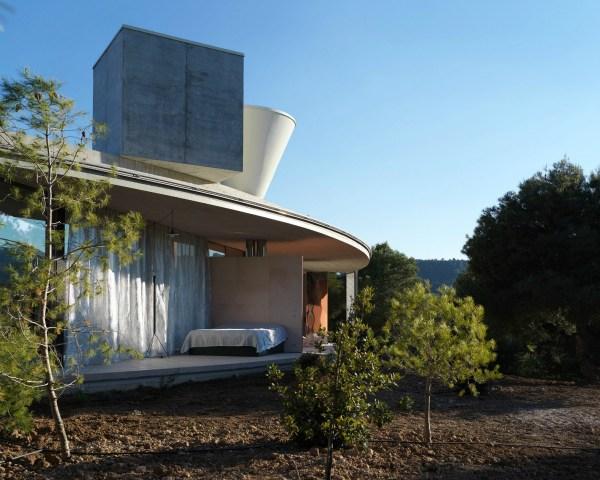 Glass-encased Circular Solo House Snakes Spanish