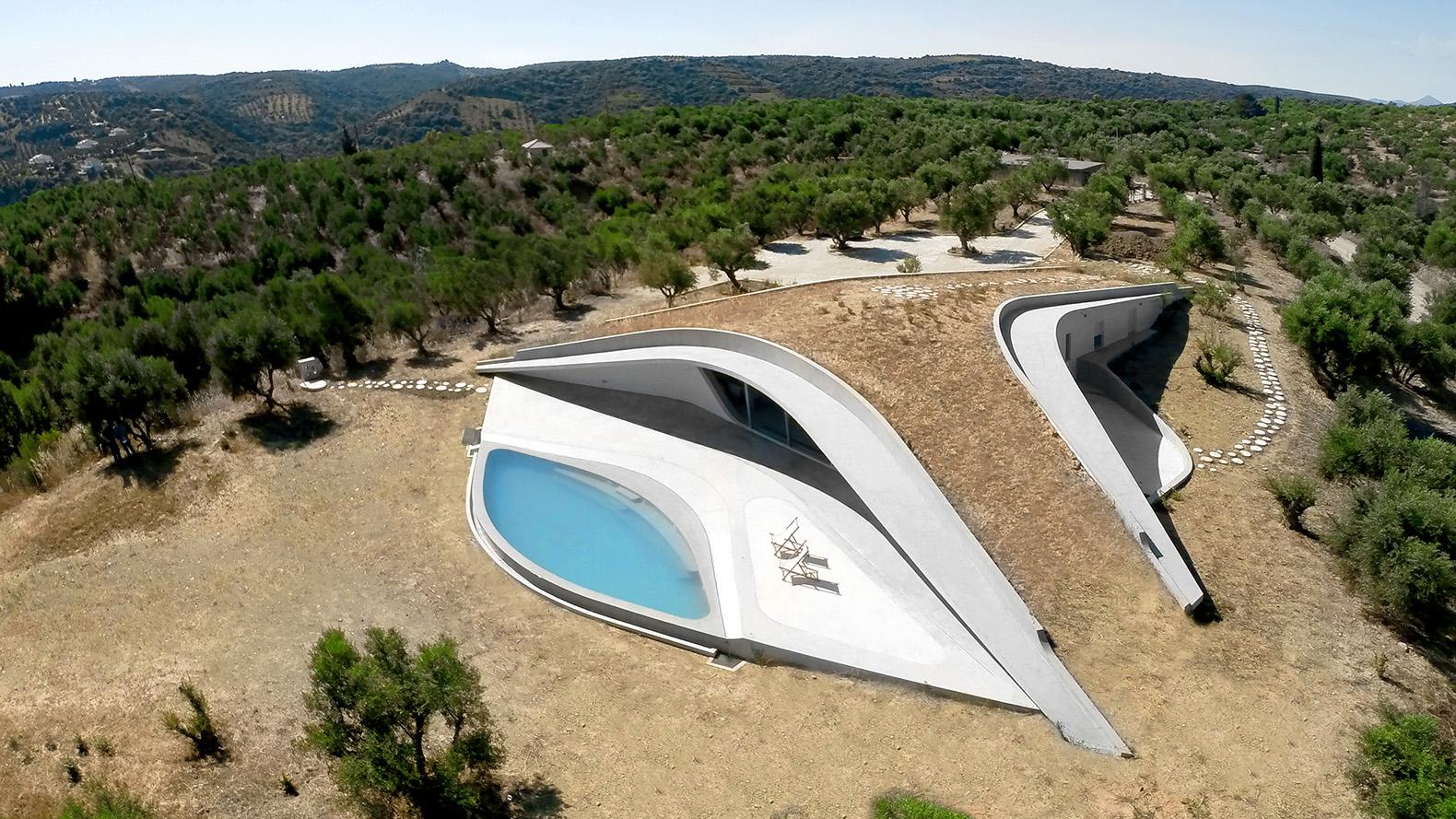 Best Kitchen Gallery: This Amazing Underground House In Greece Frames Views Of An Olive of Underground Concrete Homes on rachelxblog.com