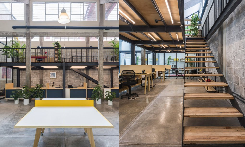 Beautiful coworking space takes over a former industrial