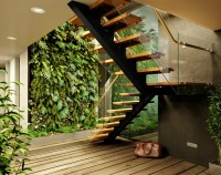 Greenhouse-like 'cabin in the woods' features lush ...