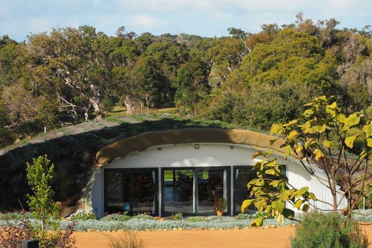 Best Kitchen Gallery: This Earth Sheltered Australian Hobbit Home Stays Cozy All Year of Self Build Earth Sheltered Homes on rachelxblog.com