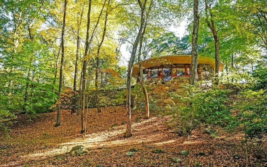 Frank Lloyd Wrights Mushroom Esque Usonia Home Hits The