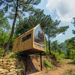 Simple Interior Design For Living Room In Philippines Wall Mirrors Decorative This Low-cost Forest House On Stilts Is A Minimalist Dream ...