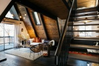 1970s A-frame cabin transformed into light-filled modern ...