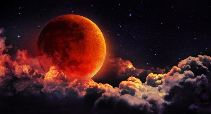eclipse de lua de sangue azul