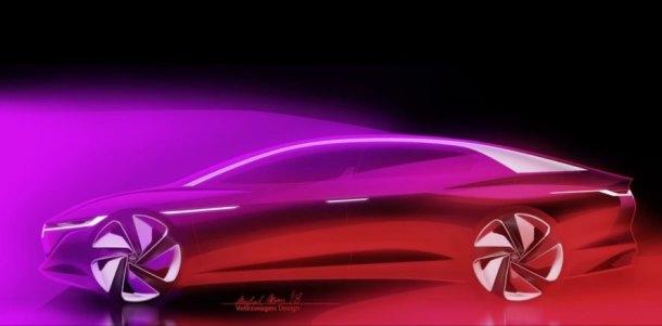 volkswagen, vw, volkswagen I.D. Vizzion concept, I.D. Vizzion Concept, 2018 Geneva Motor Show, Geneva Motor Show, electric car, green car, green transportation, lithium ion battery, electric motor
