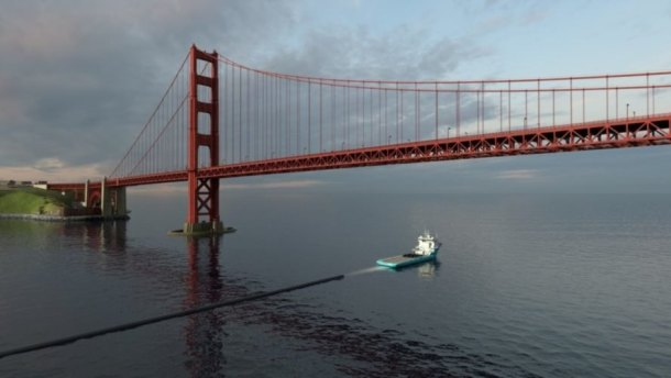 Ocean Cleanup Project, Ocean Cleanup Project ship, Ocean Cleanup Project boat, Ocean Cleanup Project San Francisco