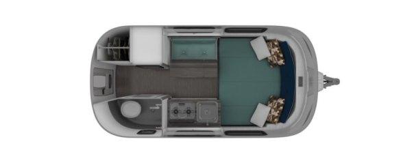 Nest by Airstream, Airstream Nest price, Nest travel trailer, fiberglass camper, fiberglass trailer, Airstream fiberglass, fiberglass Nest trailer, modern camper design, Robert Johans Nest, transforming furniture in a camper