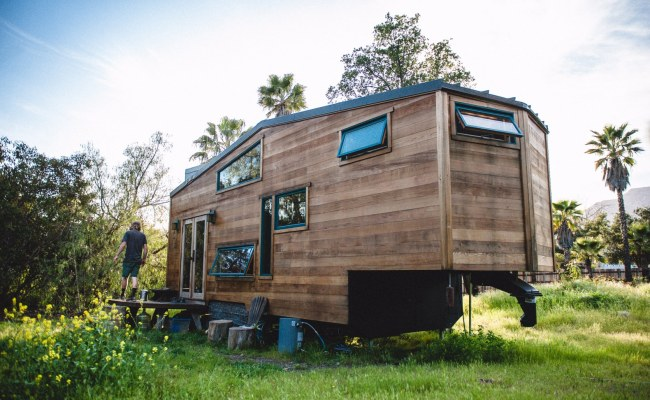 Solar Powered Tiny Home On Wheels Is Made From Reclaimed