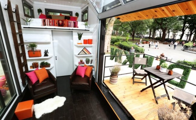 Dunkin Donuts Unveils Tiny Home Powered By Recycled