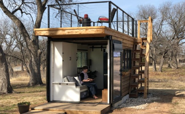 This Tiny Home With A Rooftop Deck Is Made From Two