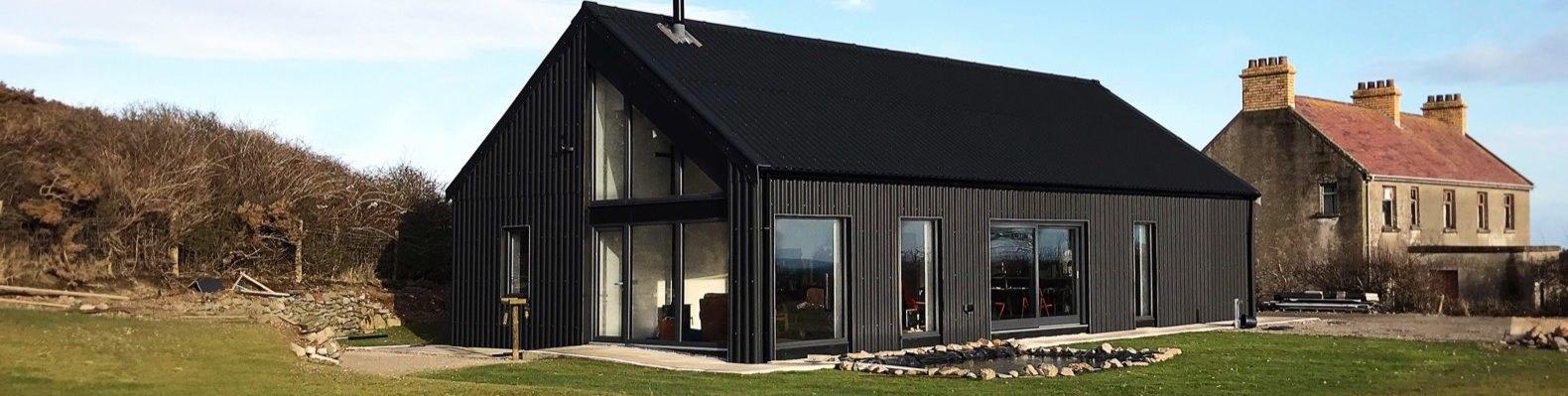 inhabitat gallerymetal clad eco cottage puts a modern spin on irish rural architecture