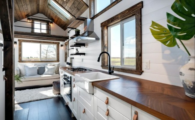 Tiny Home On Wheels With Brilliant Interiors And Two Lofts