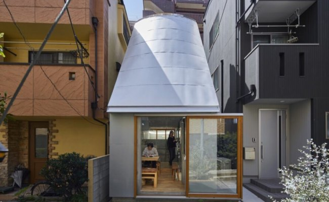 Tiny House In Tokyo Funnels Light Indoors With A Curved Roof