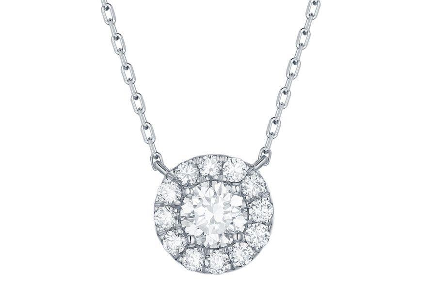 lab-grown diamond necklace