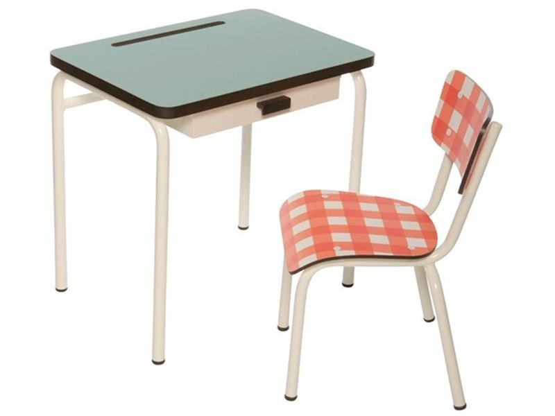 VintageStyle School Desks  Chairs Provide a Stylish