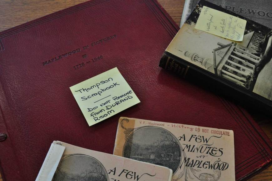 """The Thomson Archive Scrapbook. Otherwise known as """"Maplewood in Pictures""""."""