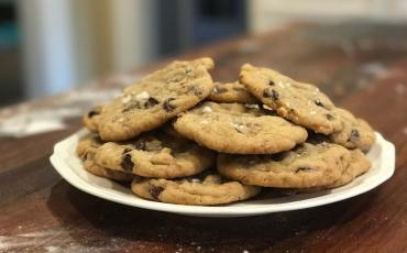 Chocolate Chip Toffee Cookies, the finished product