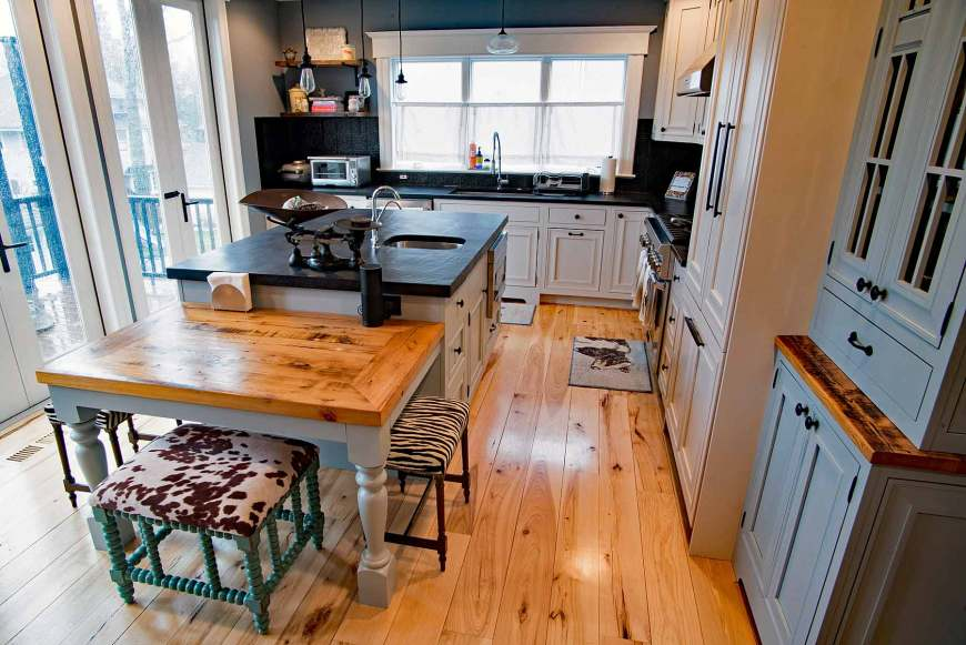 Beautiful inset cabinetry is so luxurious in a kitchen remodel.
