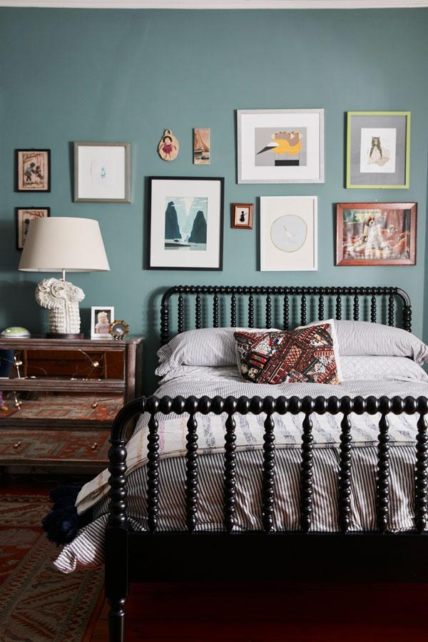 Jess Davis, owner of Nest Studio, daughter's bedroom interior design in her South Orange NJ Victorian