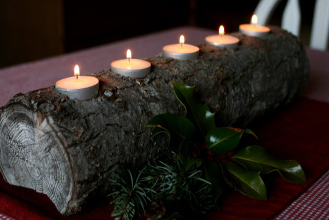 Pillar Candle Holders For Fireplace Fireplace Design Ideas 21 Homemade Log Candle Holders | Inhabit Zone