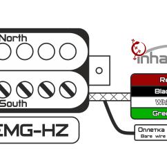 Emg Hz Pickups Wiring Diagram Sankey For Solar Power Цветовые схемы звукоснимателей  Inhalath