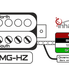 emg hz color wiring diagram wiring diagrams the emg h4 wiring diagram [ 1851 x 878 Pixel ]