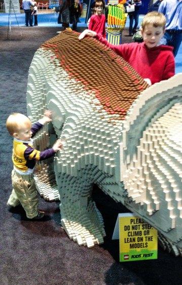 Stegosaurus LEGO Kidsfest Hartford ~ photo by Edward Main