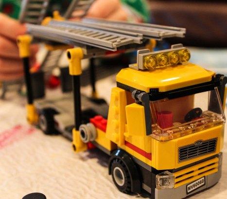 LEGO truck ~ photo by Edward Main