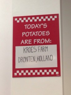 Today's potatoes are: