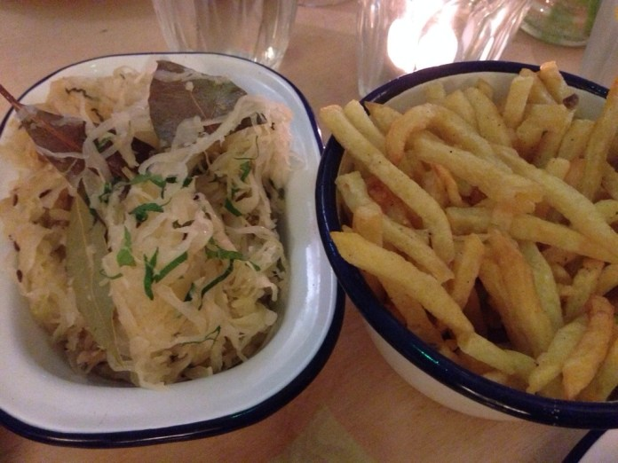 Sauerkraut and Fries