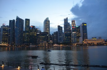 View from Singapore Harbour