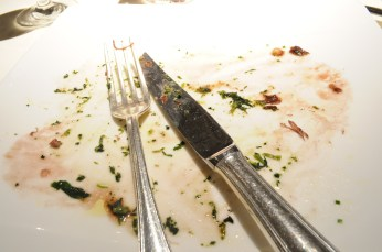 A plate wiped clean