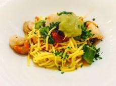 Scallop spaghetti