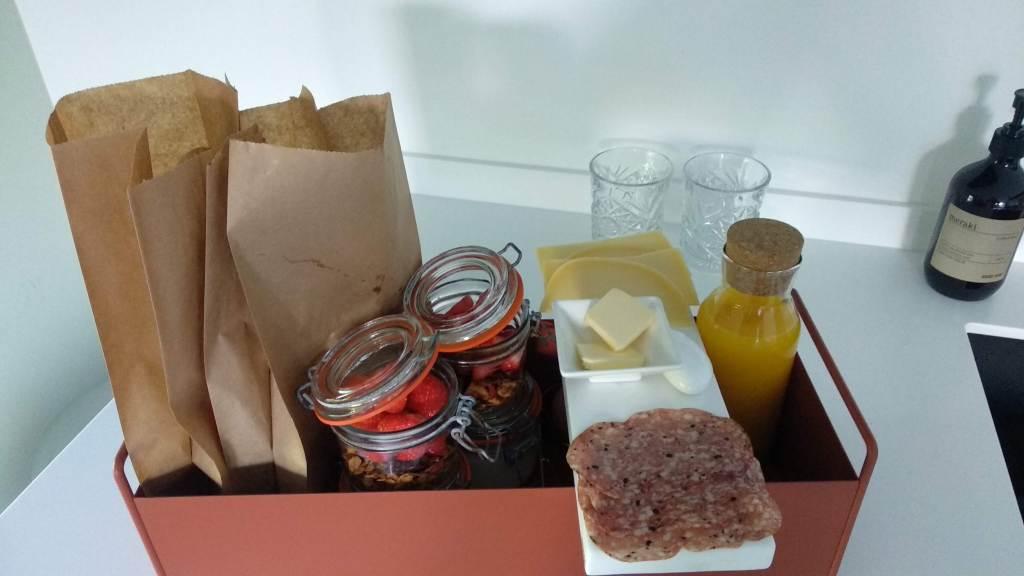 Ontbijt bij Studio LKE, een bed & breakfast in Heeze op loopafstand van restaurant Tribeca.