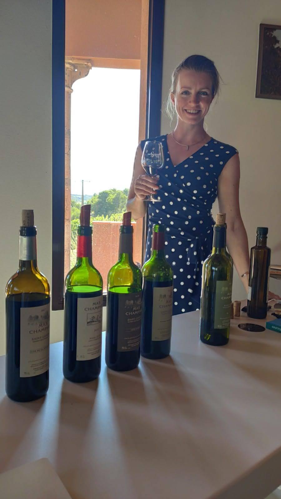 Wijnen proeven bij Mas Champart