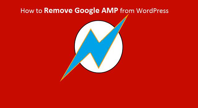 Google AMPDisable