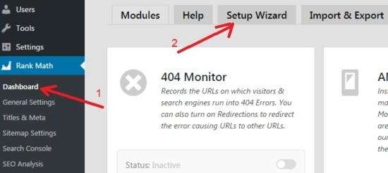 Rank Math SEO Plugin Settings