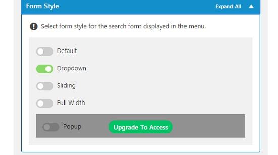 How to add WordPress search toggle in WordPress Nav menu