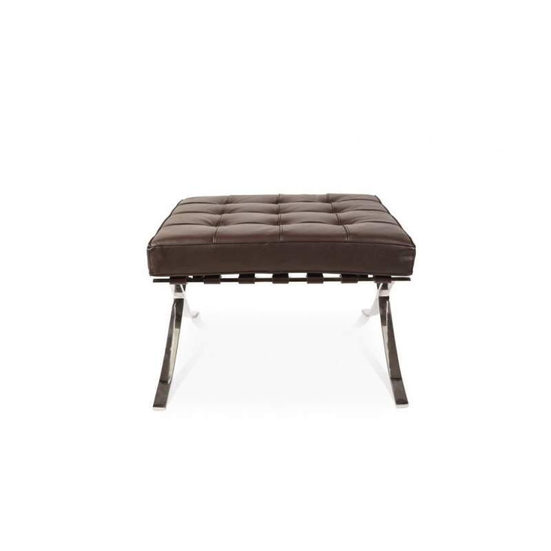barcelona chair replica uk dining booster seat for 4 year old lounge hocker dark brown