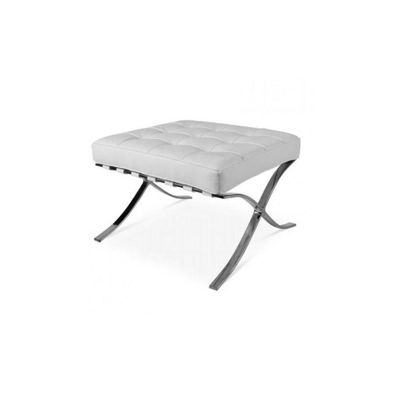 barcelona chair replica uk vintage vanity lounge hocker white