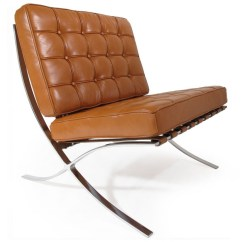 Barcelona Chair Replica Uk Target Game Chairs Lounge Fauteuil Cognac Sale