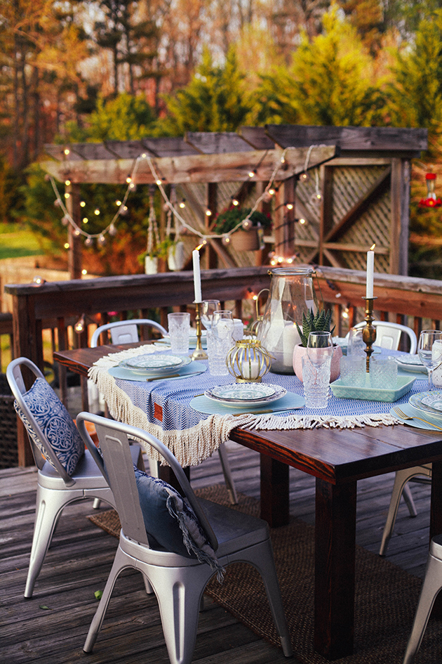 Indoor  Outdoor Easter Table Settings  In Honor Of Design